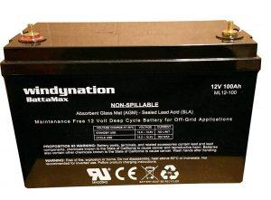 WindyNation 12V 100 Amp-Hour AGM SLA Deep Cycle VRLA Battery