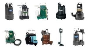 Types of sump pumps