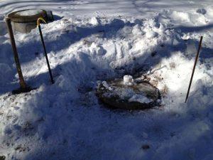 frozen sump pump