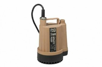 Liberty Pumps 260 1/6-Horse Power Submersible Utility Pump Review