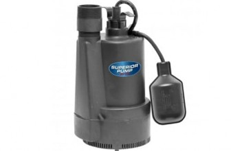 Superior Pump 92330 1/3 HP Thermoplastic Sump Pump